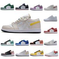 Jumpman 1 zapatos bajos de baloncesto 1s Top OG UND UNIDAD PURPLE RED ORBIT AURORA Smoke Gris Bred University Gold Trainers Sneakers EUR 36-46