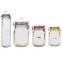Portable Jar Mason Zipper Reusable vaccum compression Bags Snack Bag Saver Leak proof Sand Food vacuum Storage Good For Bags Travel