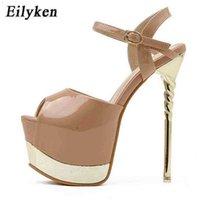 Eilyken الصنادل النسائية منصة الكعوب الزفاف 17 سنتيمتر الأحذية الصيف متجرد الأحذية 210610 YFAV