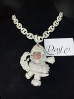 Hip Hop Iced Out Gold Sliver Color Red nose clown Pendant Cartoon Character mens hiphop jewelry