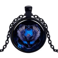 Collana stile Harry Potter Blue Eagle Badge Pending Ciondolo Creativo Trinket