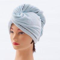 Shower Caps Bathroom Accessories Hair Cap Bonnet Drying Tools Coral Fleece Quick Magic Dry Hat 1PC For Women