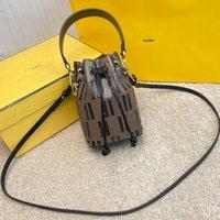 Top Quality Drawstring Bucket Bag Moda carta em relevo de couro real crossbody saco mulheres mini bolsa bolsa bolsa de ombro Senhora sacola