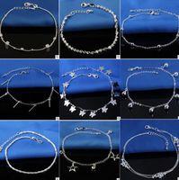 Schmuck 925 Sterling Splitter Knöchel Für Frauen Fuß Schmuck Inlaid Zirkon Fußklets Armband Drop Lieferung 2021 HXLTK