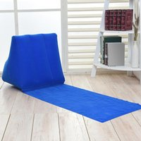 Outdoor Pads ZK30 Camping Foldable Soft Inflatable Beach Mat Air Bed Festival Leisure Lounger Back Pillow Cushion Chair Seat Travel Mattress