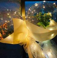 الصمام بالون مضيئة روز باقة شفافة فقاعة روز عباد الشمس زنبق مع عصا led بوبو الكرة عيد الحب يوم هدية حفل زفاف الديكورات g50kuva