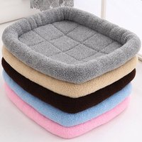 Dog Bed Soft Flannel Fleece Puppy Warm Pet Blanket Sleeping Cover Mat Waterproof Matress Cat Drop For Dogs Kennels & Pens