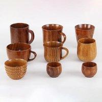 Inne zaopatrzenie ptaków Drewniane Big Belly Cups Handmade Naturalne Świerk Drewna Piwo Herbata Kawy Milk Cup Kuchnia Kuchnia Bar Dripware Drop