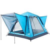 텐트와 쉼터 Bswolf 야외 캠핑 빠른 오프닝 자동 텐트 가족 피크닉 파크 재생 방수 자외선 차단제 3-4 명