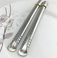 الجملة yerba mate bombilla straw الملاعق قابلة لإعادة الاستخدام الفولاذ المقاوم للصدأ القش في القرع / كأس الشاي شرب owe5707
