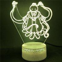 Anime Korosenenei Figur 3D Licht für Kinder Kind Schlafzimmer Decor LED Nightlight Manga Geschenk Nachtlampe