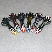 Glass Hand Pipes Hookah Smoking Tobacco HandPipes Spoon Shape Dab Rigs Wax Dabber Tools Water Bongs