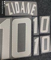 2004 Zidane Açık Spor Koleksiyon Retro Baskı Futbol Nadimleri Oyuncu Damgalama Çıkartmaları Futbol Harfleri Plastik Baskılı Number Etkilenen Yazı