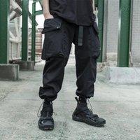 Черные грузовые брюки, указывающие подол тактический рипстоп Techwear стиль авангарский сад мода мужская