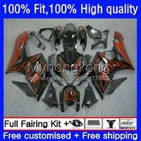 Injection Mold Bodys For SUZUKI GSXR1000 K5 GSX-R1000 05 06 Motorcycle Bodywork 26No.52 GSXR 1000CC 1000 CC Orange flames 2005 2006 GSXR-1000 2005-2006 OEM Fairing