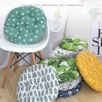 Cushion Decorative Pillow Circle Cotton Linen Seat Cushion Autumn And Winter Computer Office Sit Students Stool Dining-table Chair