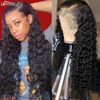 Wasserwelle Lace Front Wig HD Transparent Frontal Tiefe Wave13x4 13x6 Human Hair Perücken Brazilian Remy Lemoda