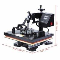 Isı Transfer Makineleri 8 in 1 Combo Basın Süblimasyon Baskı Makinesi Cap Kupa Plaka T-Shirt için 12x15 inç Ugui