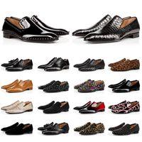 2021 Red Bottoms Loafers Vestido de fiesta Boda Zapatos sin cordones Hombre Diente de león Borla Diseñador de marca de lujo Zapatillas Oxford Zapato de lujo para hombre Ocio Plano
