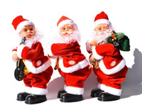 Рождественские подарки Хип встряхивание с музыкой Санта-Клаус Форма Кукла Электрические игрушки Рождественские Украшения Поставки FWF9217