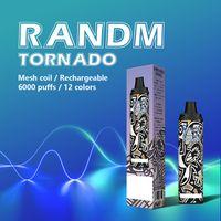 Genuine Fumot RandM Tornado Disposable Vape Pen r&m E Cigarette Device With Airflow Control Rechargeable 12ml Pod 6000 Puffs Vapes Kit