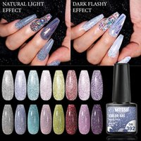 Nail Gel Mtssii Reflective Glitter Polish 6ml Sparkling Auroras Laser Art Varnish Semi Permanent Top Base Coat