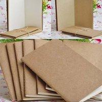 Wholesale 8.8x15.5cm Papel Cuaderno en blanco Bloc de notas Book Vintage Soft Copybook Daily Memas Kraft Cover Diario Cuadernos Notepad 1362 T2