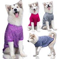 Ao Ar Livre Pet Dog Fato Médio e Grandes Cães Outono Inverno Winter Sweater Quente Confortável Animais De Estimação De Roupas Suprimentos Golden Retriever Outfits