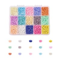 mixed color beads 3mm boxed glass rice beads DIY handmade glass SEED BEADS BEADED jewelry accessories