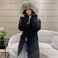 Deportes al aire libre Snow Down Abrigo E07 Mujeres Grueso Real Fur Fur Hood's Slim's Slim Chaqueta Invierno EE.UU. Canadá estilo Ladies Parka Designer Sudaderas con capucha abrigos de cálido