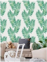Wallpapers Peel And Stick Removable None Residue Green Tropical Floral Flower Leaf 3D Wallpaper For Home Decor