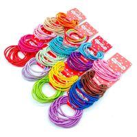 2cm Słodkie Dzieci Dziewczyna Cukierki Kolor Ponytail Uchwyt Akcesoria Elastyczna gumka dla dzieci Kolorowe Krawaty Włosów