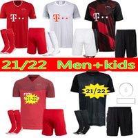 Erkekler Çocuk Kitleri 21 22 Bayern Lewandowski Münih Futbol Formaları 2021 2022 Hernandez Kimmich Yetişkin Çocuk Kiti Goretzka Ekipmanları Tam Set Üniforma Futbol Gömlek