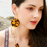Çapraz Sınır E-Ticaret Akrilik Küpe Bayan Moda Asetat Küpe Küpe Eardrops Avrupa ve Amerikan Abartılı Küçük Takı