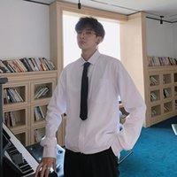 Men's Dress Shirts DK Uniform Spring White Shirt Long Sleeve Korean Fashion Handsome Ins Loose Casual Large