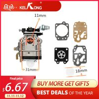 Motorcycle Fuel System KELKONG Carburetor 10mm Carb Kit Walbro WYJ-138 PMW Part 4088 Fit For Mini Moto 33CC 36CC Kragen Zooma Gas Scooter Po