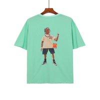 2021 Moda Tendencia de verano Camisetas para hombre Top Qaulity Black Camiseta Negro Mujeres Travis Scott Tee Imprimir Tshirt Tops de manga corta sueltos de verano