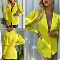 Sexy Women Short Suits Blazer Dress Slim Fit Office Lady Party Prom Jacket Red Carpet Leisure Outfit Coat Only One Piece