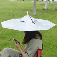 Umbrellas Foldable Umbrella Cap Fishing Tools Outdoor Sport Sunscreen Shade Hat Hiking Headwear