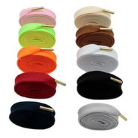 1.8CM Fat Laces With Golden Metal Tips High-quality Luxury Shoelaces Premium Polyester Hottest Item Promotion Gift