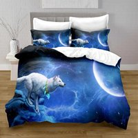 Bedding Sets 100% Polyester Animal Wolf Duvet Cover Digital Printing Set With Pillowcase Bed Boy Quilt