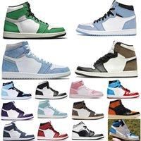 Yüksek Kalite 1 1s Basketbol Ayakkabı Erkek Hyper Kraliyet Obsidiyen Rust UNC Büküm Kara Mocha Turbo Yeşil Gri Hack OG Gölge Kadınlar Üniversitesi Mavi Eğitmenler Sneakers ABD 5.5-12