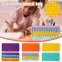 Fidget Toys pencil case Colorful Push Bubble keyboard Sensory Stress Reliever Autism Needs Anti-stress Rainbow Adult Toy For Children Gift