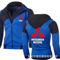 Men's Hoodies & Sweatshirts Spring Autumn Fashion Mitsubishi Motors Sweatshirt Sportswear Casual Jacket Coat Hip Hop Double Zipper Cotton Ho