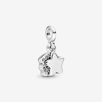 100% 925 Sterling Silver My Shooting Star Mini Dangle Charm Fit Original European Charms Bracelet Fashion Wedding Jewelry Accessories
