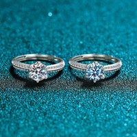 Halbsilber S925 Wall Sterling Mountain Moang Sechs Klaue Weibliche Inlaid-Diamant-Vorschlag Ring, Persönlichkeit Trend Ring