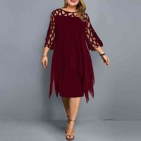Casual Dresses Elegant summer dress, knitted fabric, red dress wine, casual women's clothes for party, wedding, 4PUJ