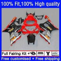 Injection Mold Bodys For SUZUKI GSXR1000 Red black hot K2 GSXR-1000 00 01 02 Bodywork 24No.36 GSXR 1000CC 1000 CC 00-02 GSX-R1000 2000 2001 2002 Motorcycle OEM Fairing