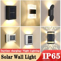 야외 태양 벽 램프 IP65 방수 정원 조명 홈 계단에 대 한 장식 가로등 위아래로 홈 계단 울타리 안뜰 게이트 마당