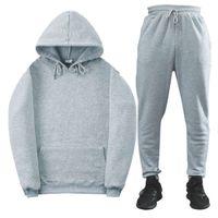 tracksuits hoodies sweatshirts Loose casual suit men's and wo sports running two piece fleece warm sweater WMQJ